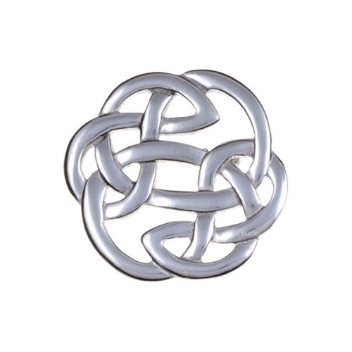 Lughs Knot Brooch Small Pewter PB64
