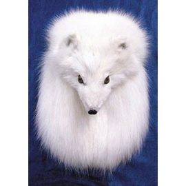 White-Arctic-Fox-Full Mask Sporran-MSF1018WF