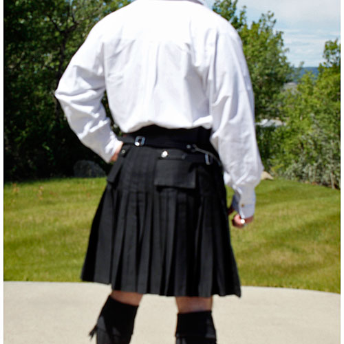 Black-Cargo-Kilt-Back