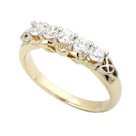 CZ-Claddagh-Eternity-Gold-Ring-S2982