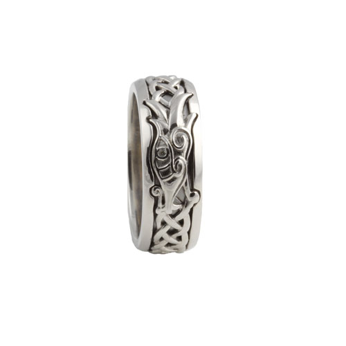 Dragon Ring with White Sapphire PRG7263