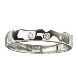 18kt White Gold Diamond Wedding Band S2638