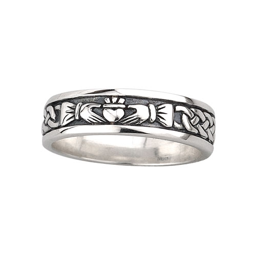 Ladies Claddagh Band Sterling Silver S2829