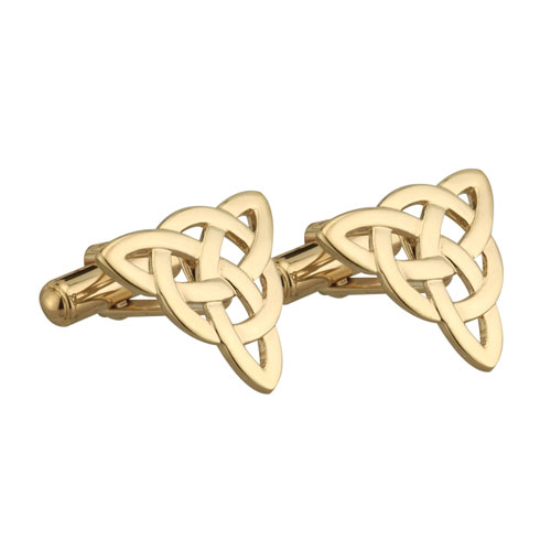 Celtic Knot Cufflink Gold Plated S6429