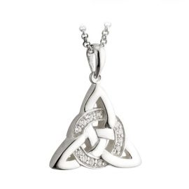 Celtic Knot Pendant Cubic Zirconia Accent Sterling Silver S44467