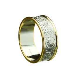 Celtic Warrior Shield Wide 10kt or 14kt Gold RFGD034