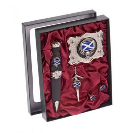 Clan-Crest-Pewter-Skean-Dhu,-Buckle,-Cuff-Links-and-Kilt-Pin-APSJGS1
