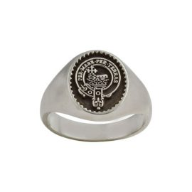 Clan Crested Ring Small Sterling Silver CLANPI300