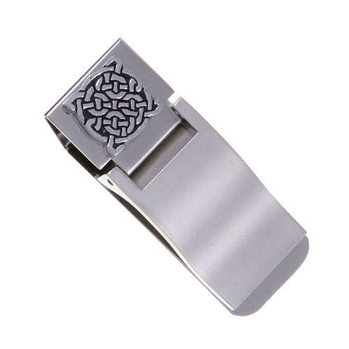 Four Knot Celtic Money Clip Pewter MC16