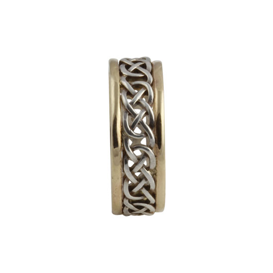 Infinity Celtic Knot Ring Small SS 10kt Gold KELGS1S