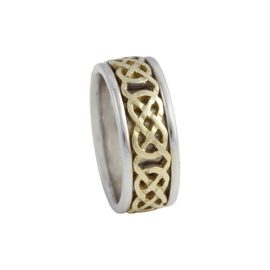 Kilkenny Celtic Knot Ring Large 14kt Gold KELKAR02L