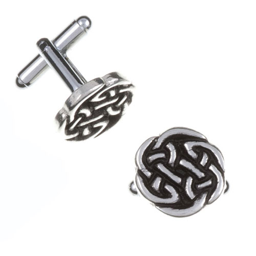 Lughs Knot Cufflinks Pewter CC12T