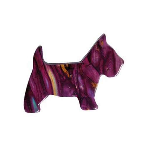 Scottie Dog Heathergem Brooch HB16
