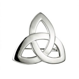 Trinity Knot Brooch Rhodium Plated S1916
