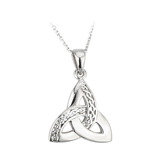 Trinity Knot Pendant Milled Accents Sterling Silver S44867