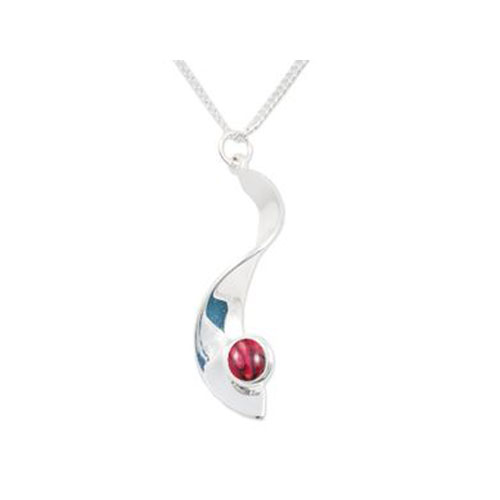 Twist Pendant Silver Plated HP48