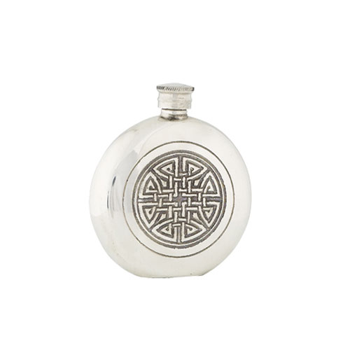 celtic-knot-round-6oz-hip-flask-with-funnel-pewter-fl34p