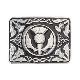 thistle-black-enamel-buckle-polished-pewter
