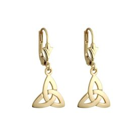 Trinity Knot Drop Earrings Gold Plated S3594