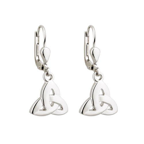 Trinity Knot Drop Earrings Silver Plated S33383