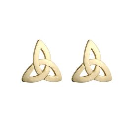 Trinity Knot Stud Earrings Gold Plated S3587