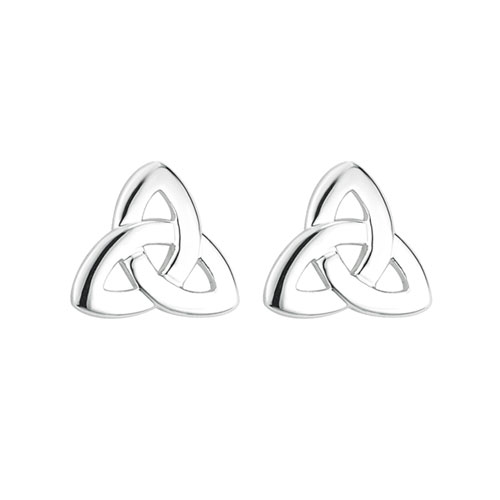 Trinity Knot Stud Earrings Silver Plated S33382