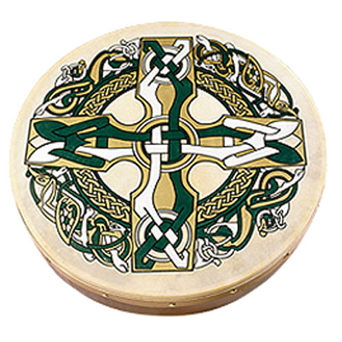 Bodhran-18-Inch-Cross-Design