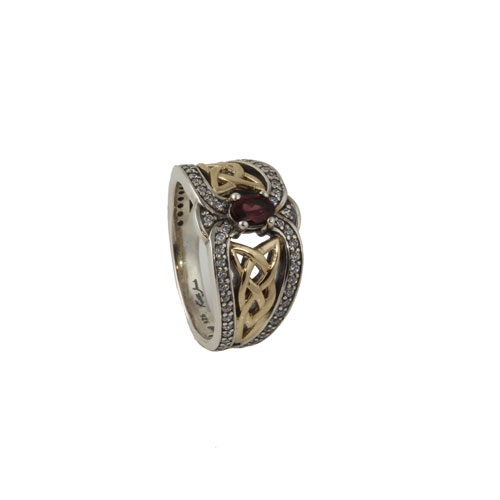 Celtic Rhodolite Dress Ring PRX8104