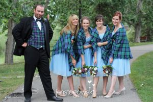 Tartan Shawls and Vest Weddings
