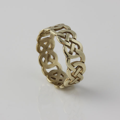 Infinity Knot Open Weave Ring 10kt Yellow Gold
