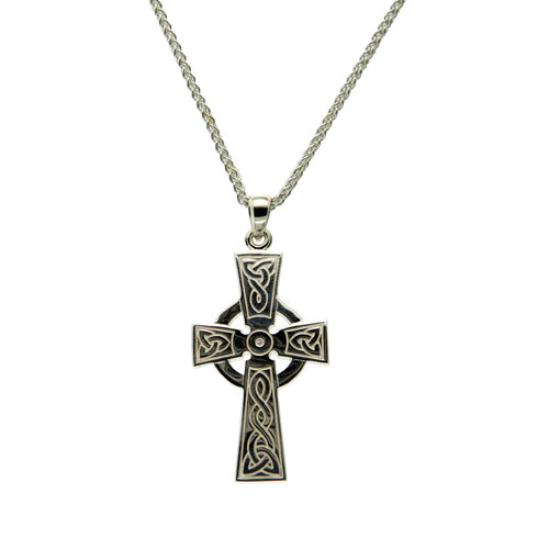 Celtic Cross Large Sterling Silver PCR3046