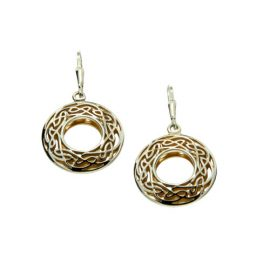 Window to the Soul Round Earrings SS 22kt Gold PEX3383